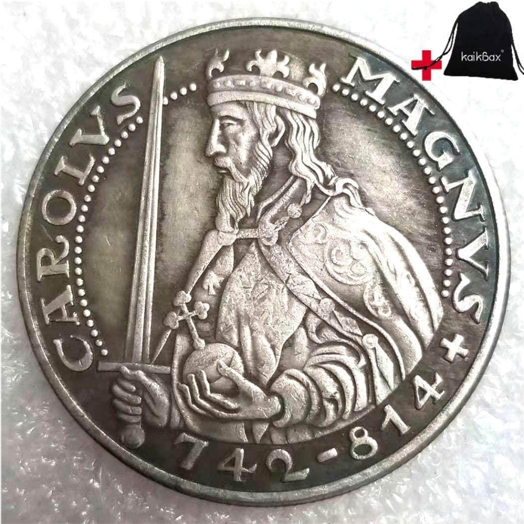 Jearls Best Hand Carved Old German Coins-Mark Old Coins- Great Uncirculated Commemorative European Coin + KaiKBax Bag-Perfect Choice for Your Coin Great Gifts