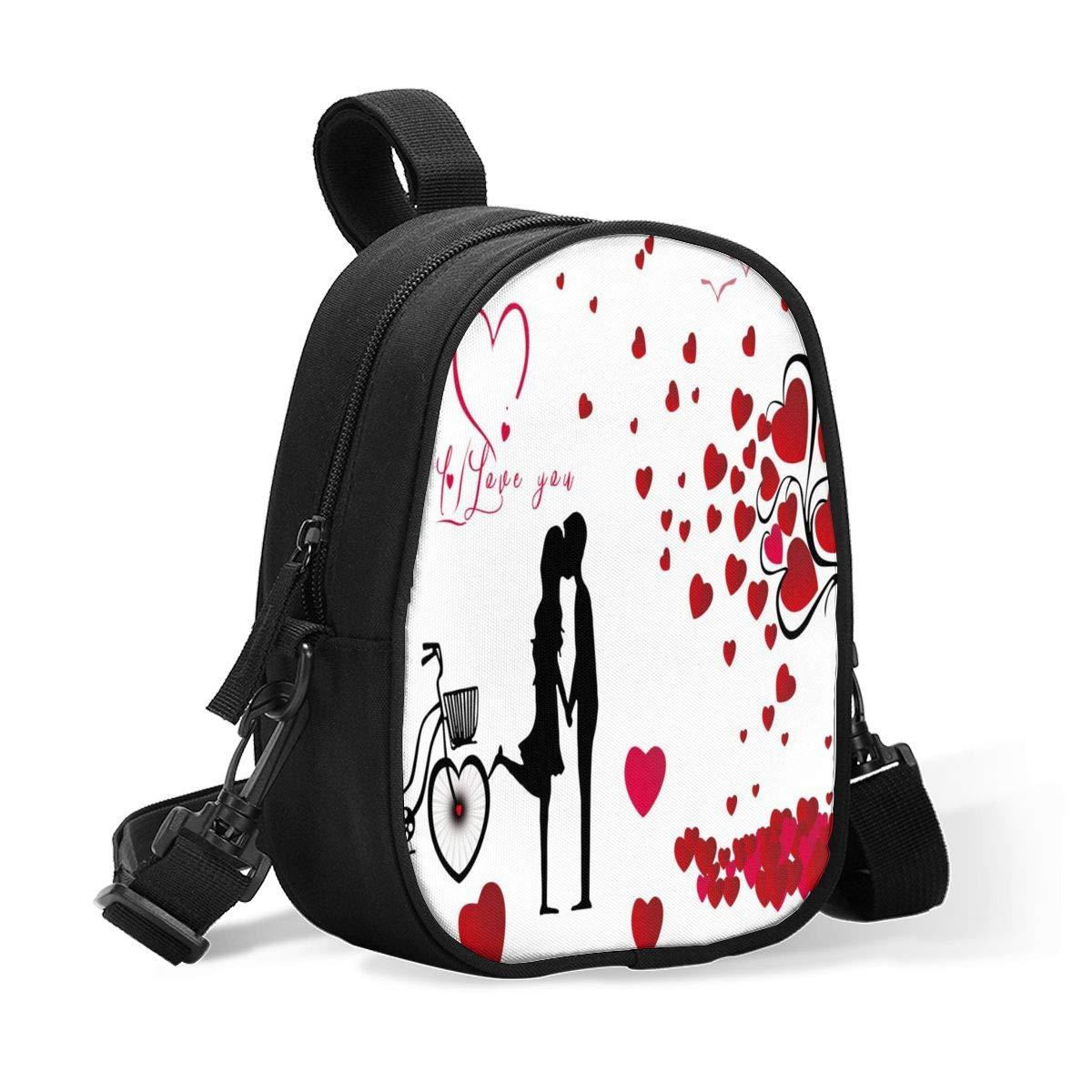 Insulated Baby Bottle Bag Romantic Beauty For Valentines Day Multi-Function Breastmilk Cooler Bag & Lunch Bag, Fit As Wine Carrier Or For Milk Bottles, For Nursing Mom Back To Work For 2 Large Bottles