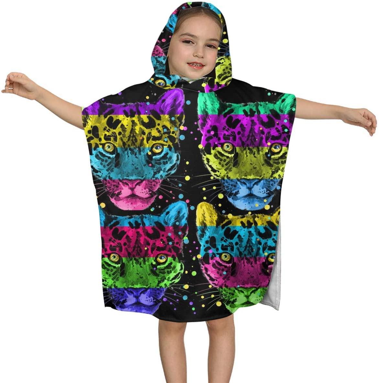 BJHAP Hooded Baby Towel Jaguar Leopard Bathrobe for Kids Boys Girls