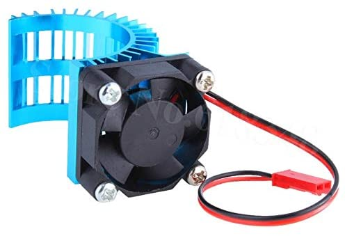 Parts & Accessories Aluminum Heatsink & Fan Cooling for 550 540 Motors RC Model EP Car Electric Power HSP Himoto Racing - (Color: Blue)