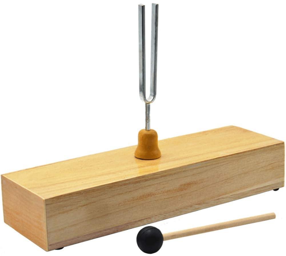 ZQDL 256HZ Tuning Fork, Wooden Speaker Resonance Physical Acoustics Experimental Equipment Teaching Tuning Fork Kit