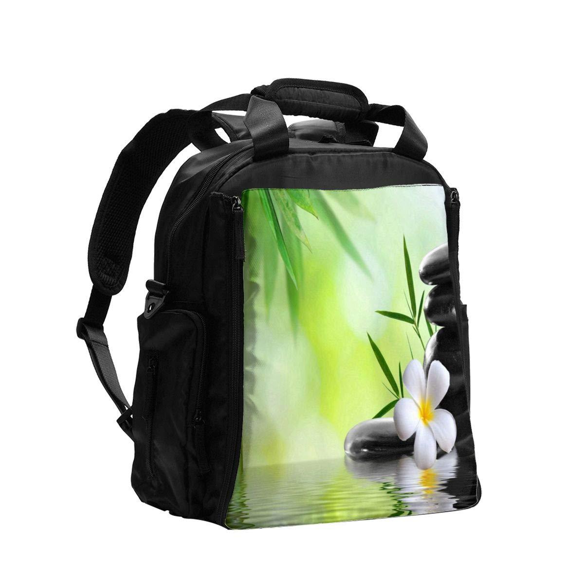Diaper Bag Backpack Bamboo Zen Stone Lotus Flower Baby Diaper Bag,Diaper Bag