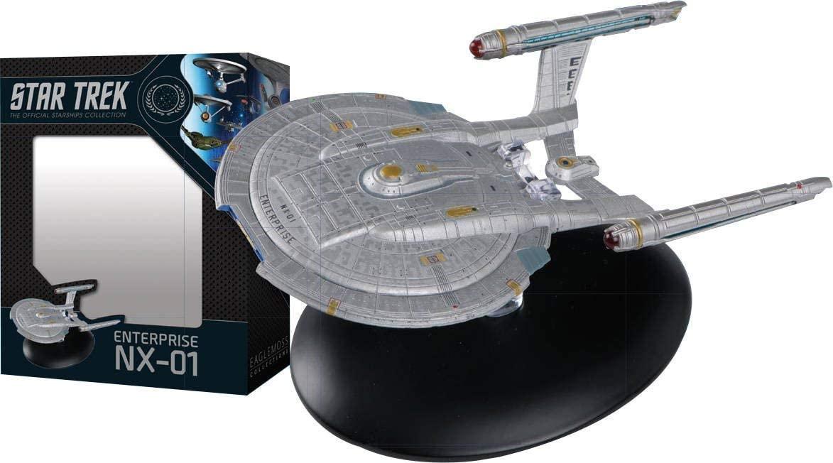 Eaglemoss DEC172289 Star Trek The Official Starships Collection USS Enterprise NX-01 Ship Replica, Multicolor