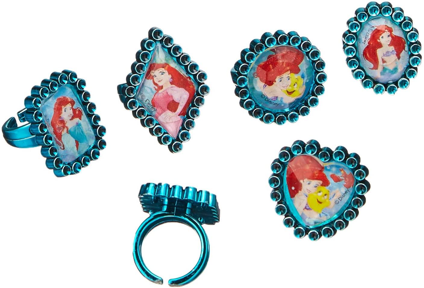 Amscan Enchanting Disney Ariel Dream Big Birthday Jewel Rings Party Favor, Green, 1