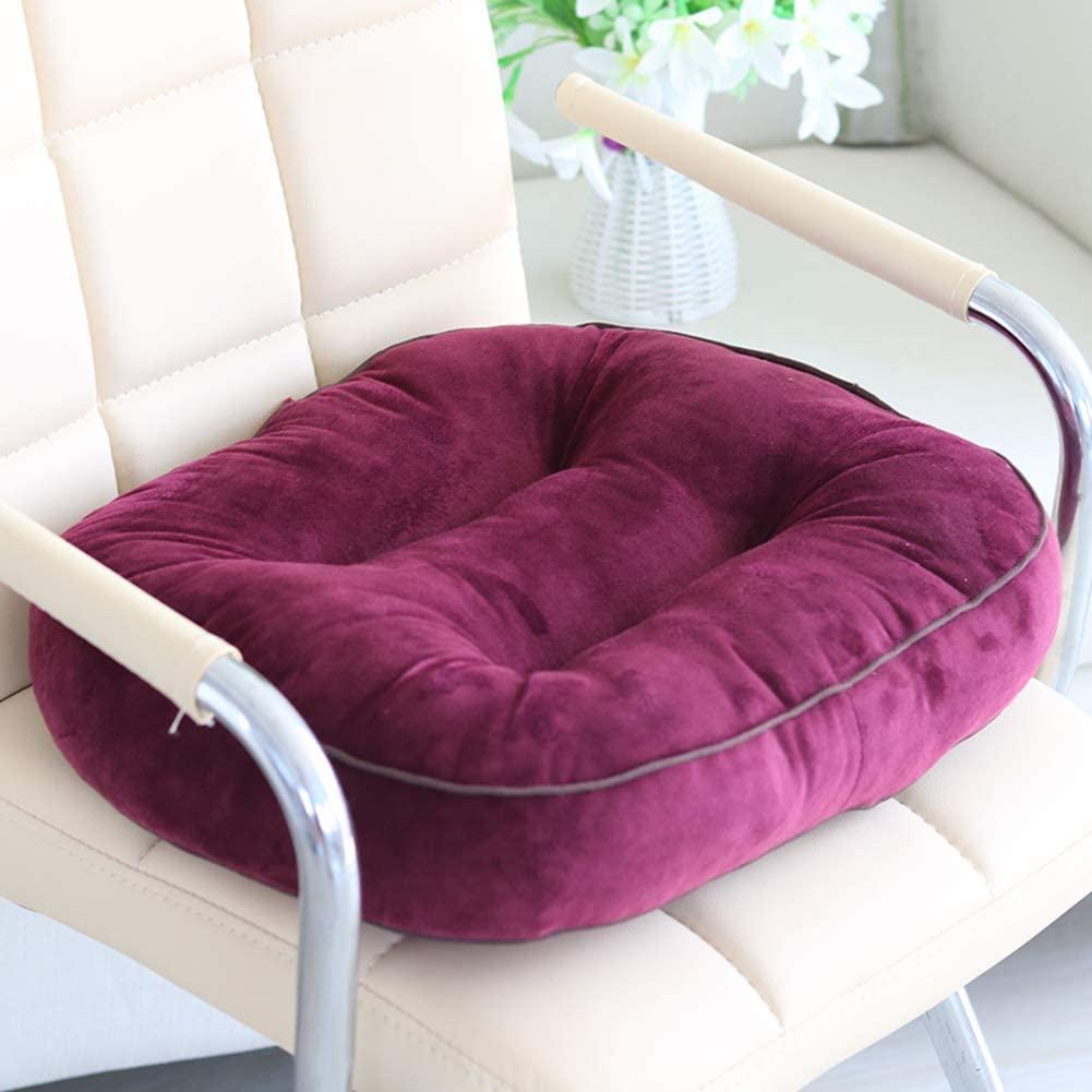 QTQZ Plush car seat Cushion,Practice Crystal Velvet car Chair Cushion thickend Driving Driver seat Cushion-K 44x40x12cm(17x16x5inch)
