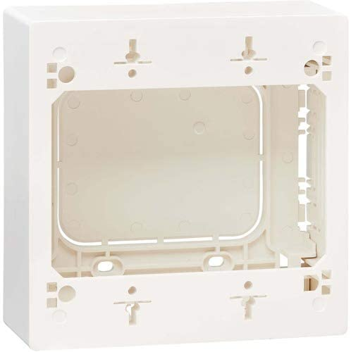 Tripp Lite Double Gang Surface Mount, 2-Gang Back Box Wall Plate, Adaptable Junction Box, TAA, White (N080-SMB2-WH)