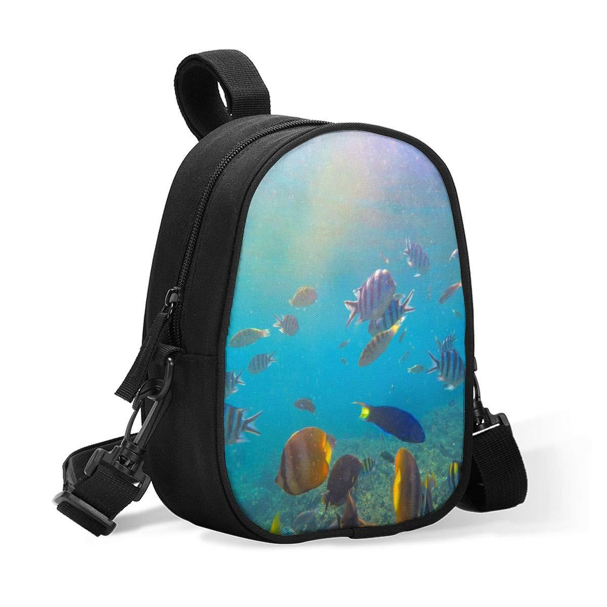 Bottle Cooler Coral,Butterflyfish,Parrotfish Underwater Breastmilk Cooler,Insulated Breast Milk Cooler Baby Bottle Bag W/Adjustable Strap Stroller Fits 2 Large Bottles,Lunch Box Tote Storage Bag