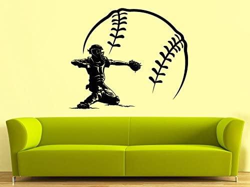 CreativeWallDecals Wall Decal Vinyl Sticker Decals Art Decor Design Bedroom Baseball Player Sport Extrime Play Room Kids Bedroom Dorm Home (r1420)