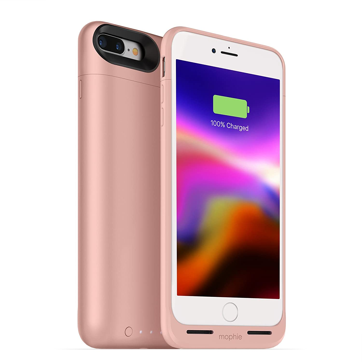 mophie juice pack wireless - Charge Force Wireless Power - Wireless Charging Protective Battery Pack Case for iPhone 8 Plus – Rose Gold