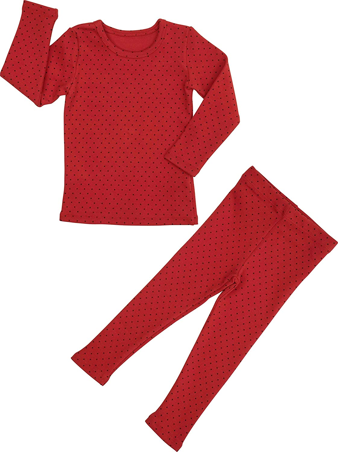 Baby Boys Girls Polka dot Pajama Set 6M-8T Kids Toddler Snug fit Cotton Sleepwear