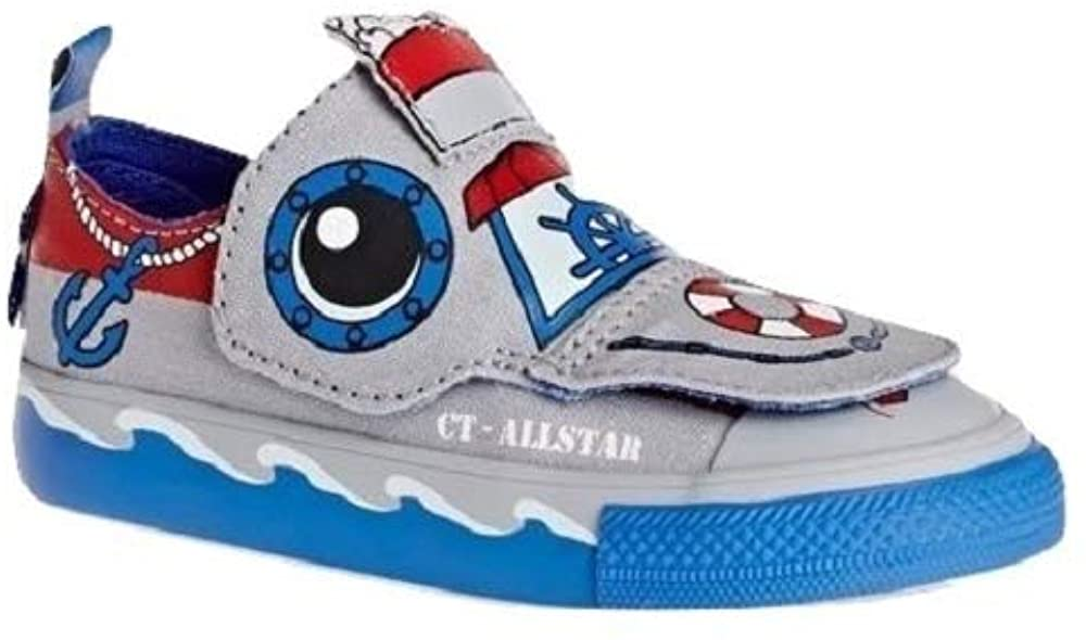 Converse Infant CTAS Creatures Ox Wolf Grey/Italy Blue/Casino 758189F