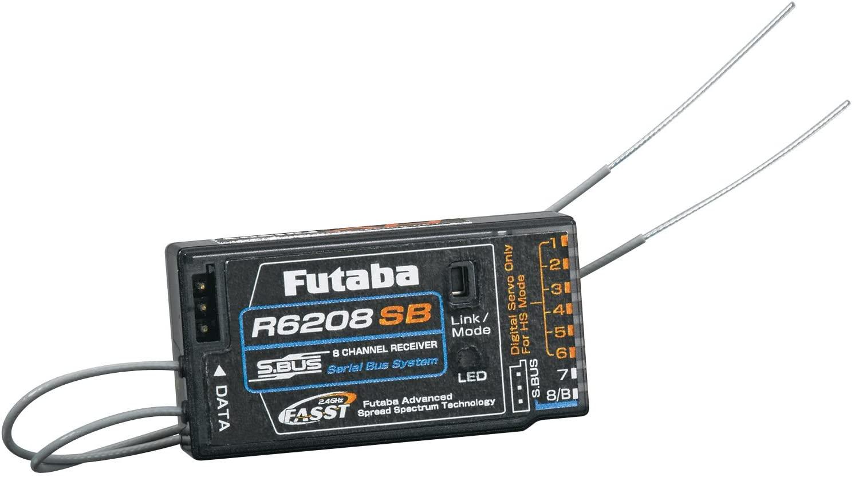 Futaba R6208SB S.Bus 8-Channel FASST High Voltage (HV) Receiver (Rx)