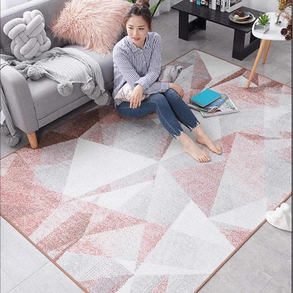 Zzalo Carpet Nordic Bedroom Bedside Blanket Sofa Coffee Table Carpet Modern Simple Room Mat Household Geometric Wind Carpet Home Nordic (Size : 140200cm)