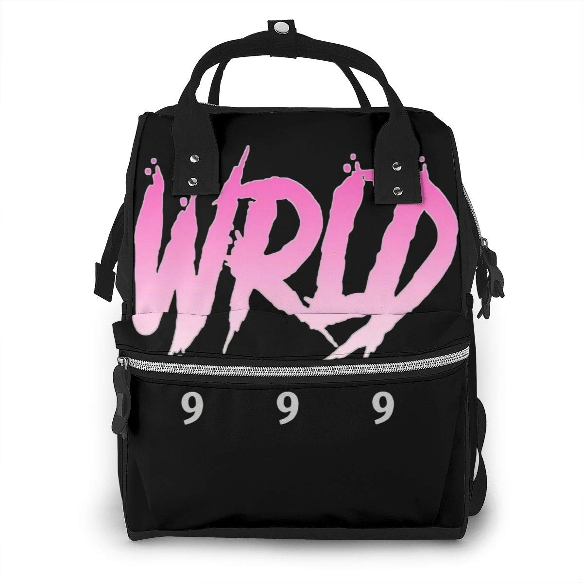 Rip 9 9 9 Juice Wrld Hip Hop Durable Large Capacity Diaper Bag Mommy Backpack