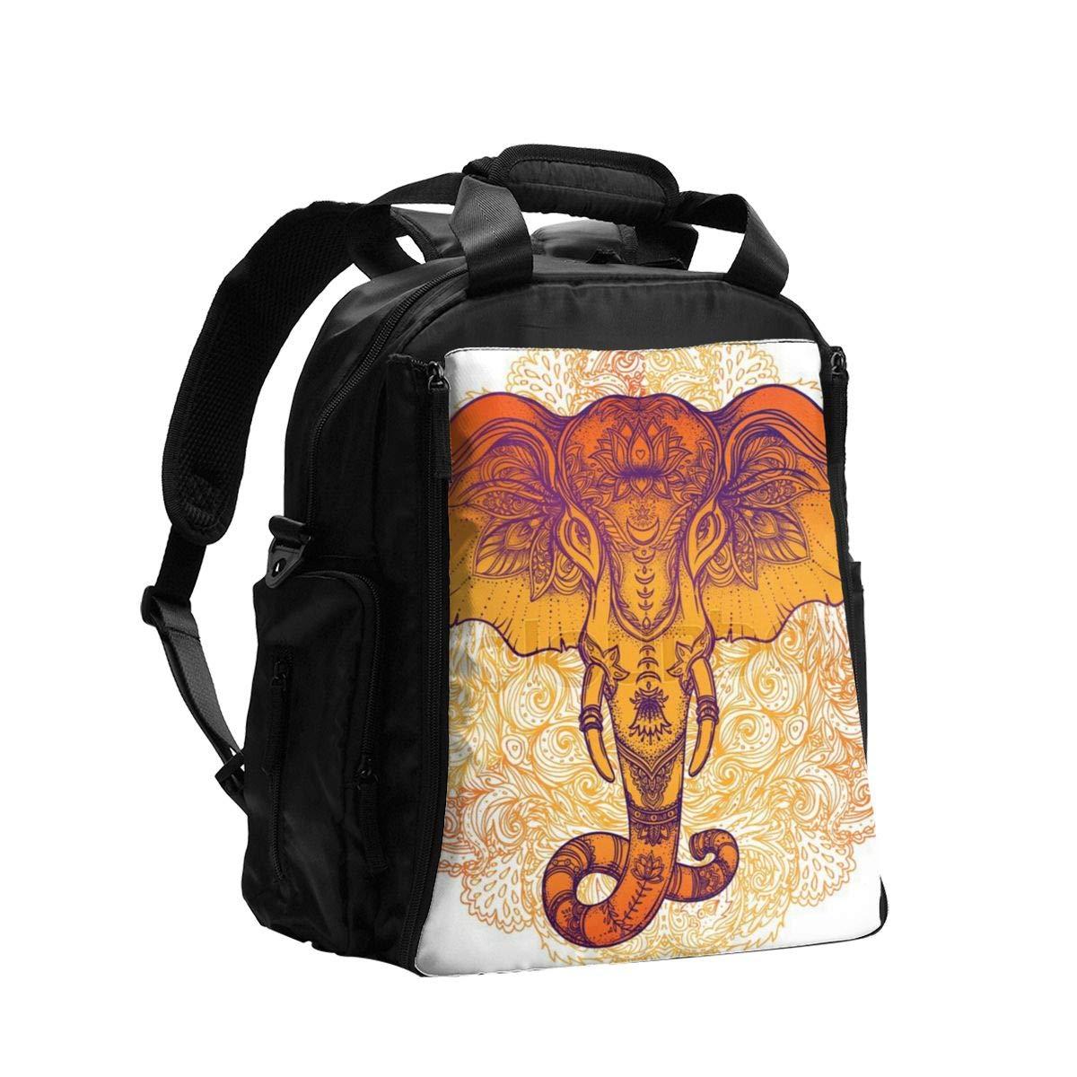 Diaper Bag Backpack Tribal Style Elephant Over Mandala Baby Diaper Bag,Diaper Bag