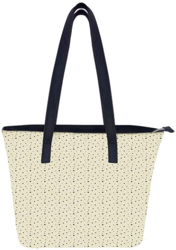 Abstract Polka Sizes Women Leather Laptop Tote Office Shoulder Handbag Computer Briefcase
