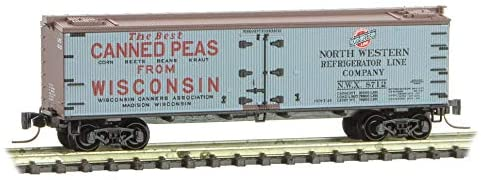 Micro-Trains MTL Z-Scale 40ft Wood Reefer Farm-to-Table #5 Wisconsin Can. #8712