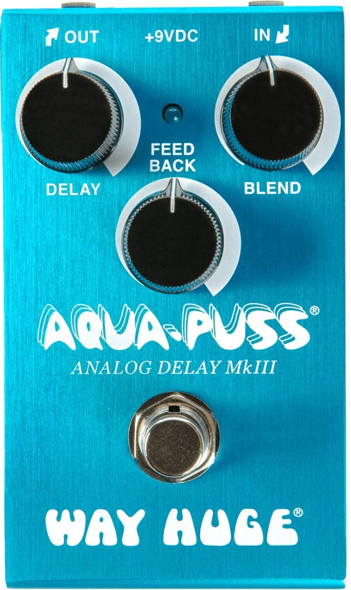 Way Huge Smalls Aqua-Puss Analog Delay Guitar Effects Pedal (WM71)