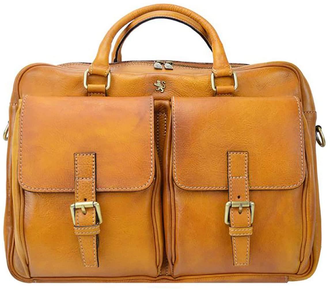 Pratesi Montalcino Briefcase - B228 Bruce (Cognac)