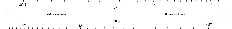 Dual Scal Fingerboard Slotting Template - 26.5