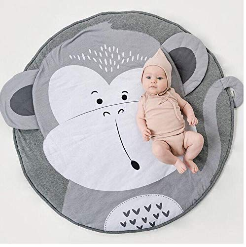 USTIDE Baby Play Mat Cotton Floor Gym - Non-Toxic Non-Slip Reversible Washable,37.4