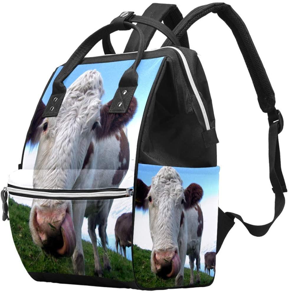 Hereford Cattle Diaper Bag Shoulder Backpack Changing Bags