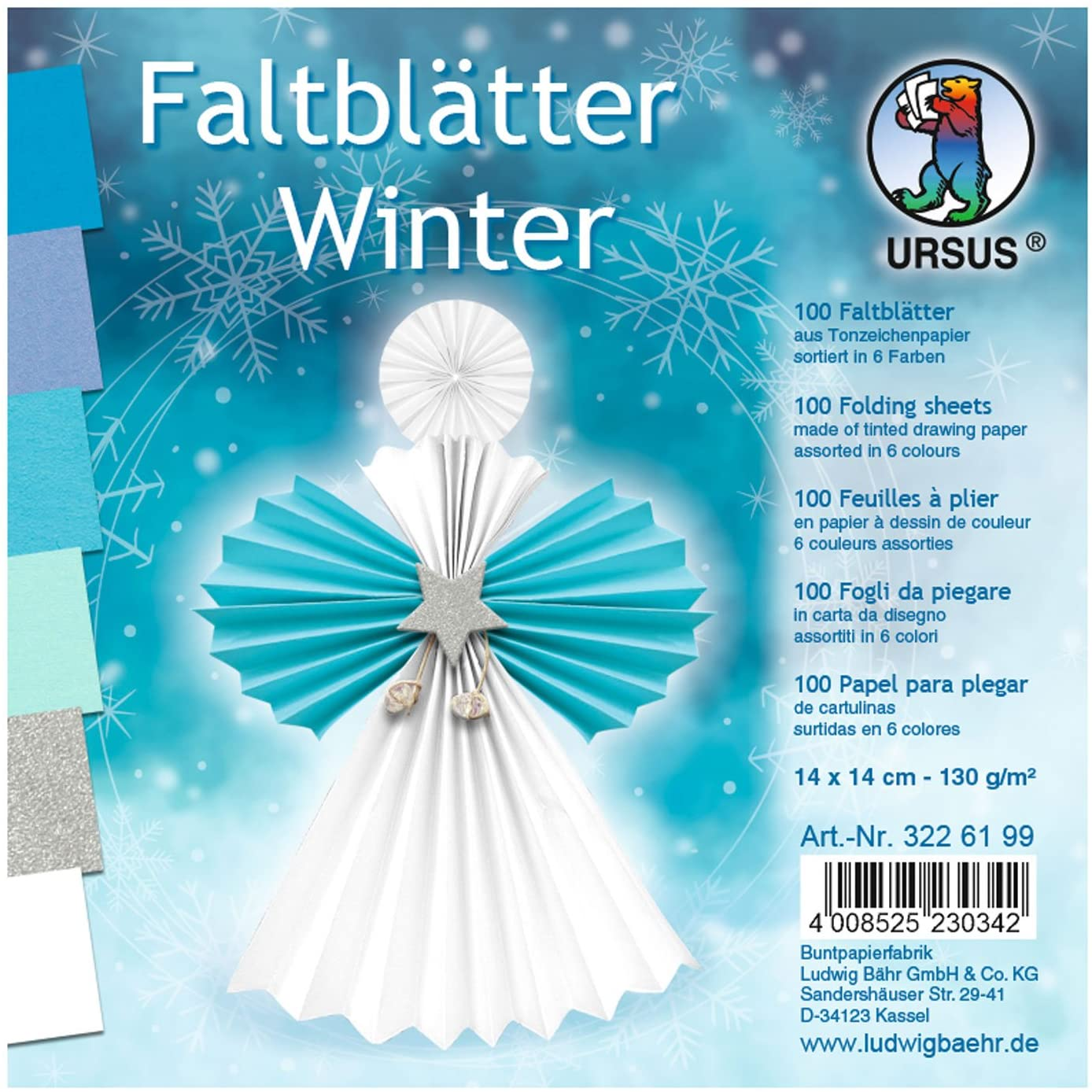 Ursus Folding Paper 100Sheets Coloured Drawing Paper 130g/m²
