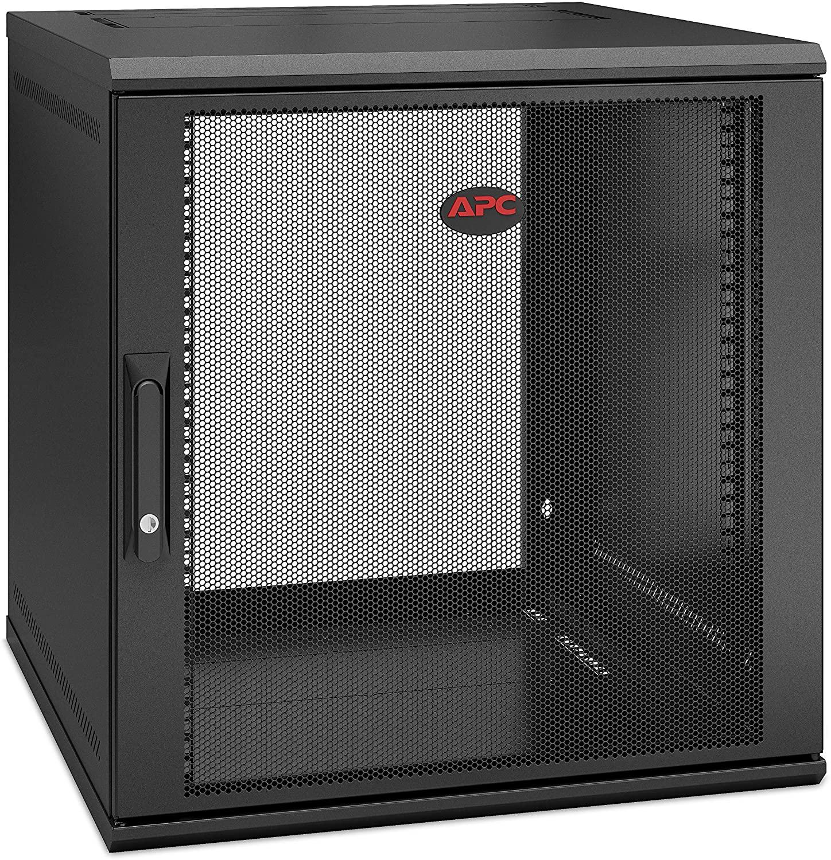 APC NetShelter 12U Wallmount Rack Enclosure Server Cabinet, AR112SH6, Single Hinged, Switch Depth 400mm Deep