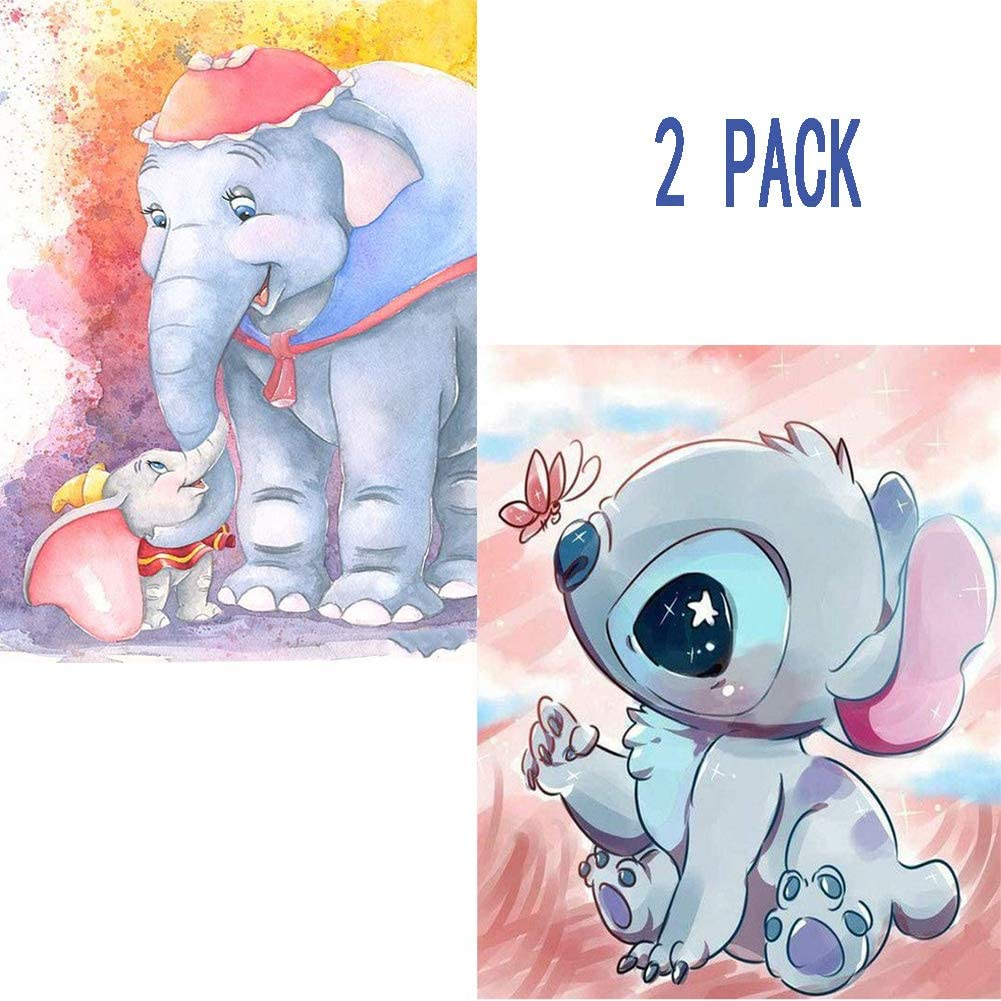 5D Diamond Painting Kit Paint by Numbers Kit for Adults or Kids,2PACK 16