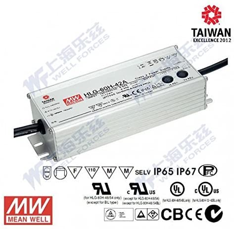 Meanwell HLG-60H-20 Power Supply - 60W 20V 3A - IP67