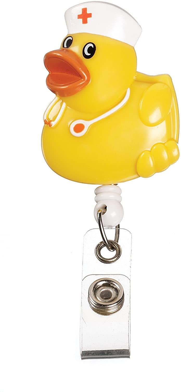 Nurse Duck Retractable Badge Holder