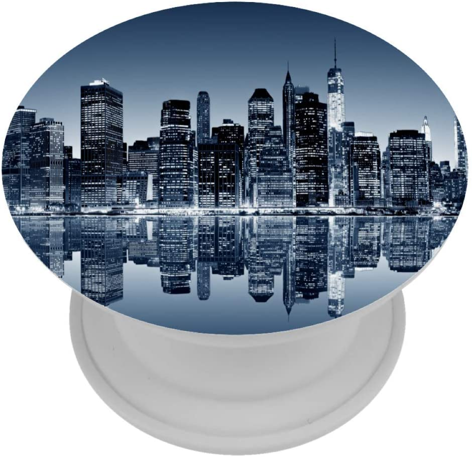 Panoramic Night View Manhattan New York Expanding Phone Socket,Prop Mount Holder for Cellphone