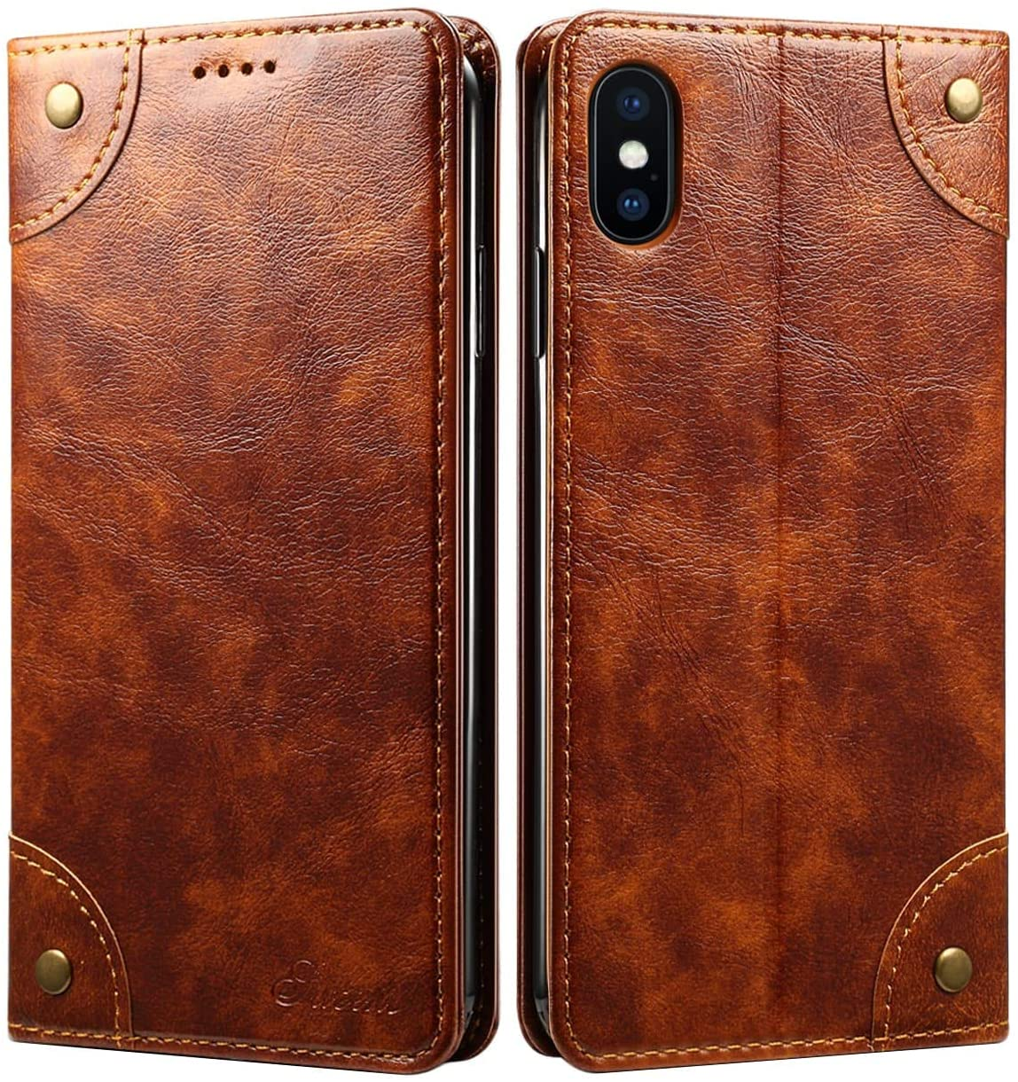 SINIANL iPhone 8 Case, iPhone 7 Case, Leather Wallet Folio Case Book Design Flip Cover with Stand and ID Credit Card Slot Magnetic Closure for iPhone 8/7