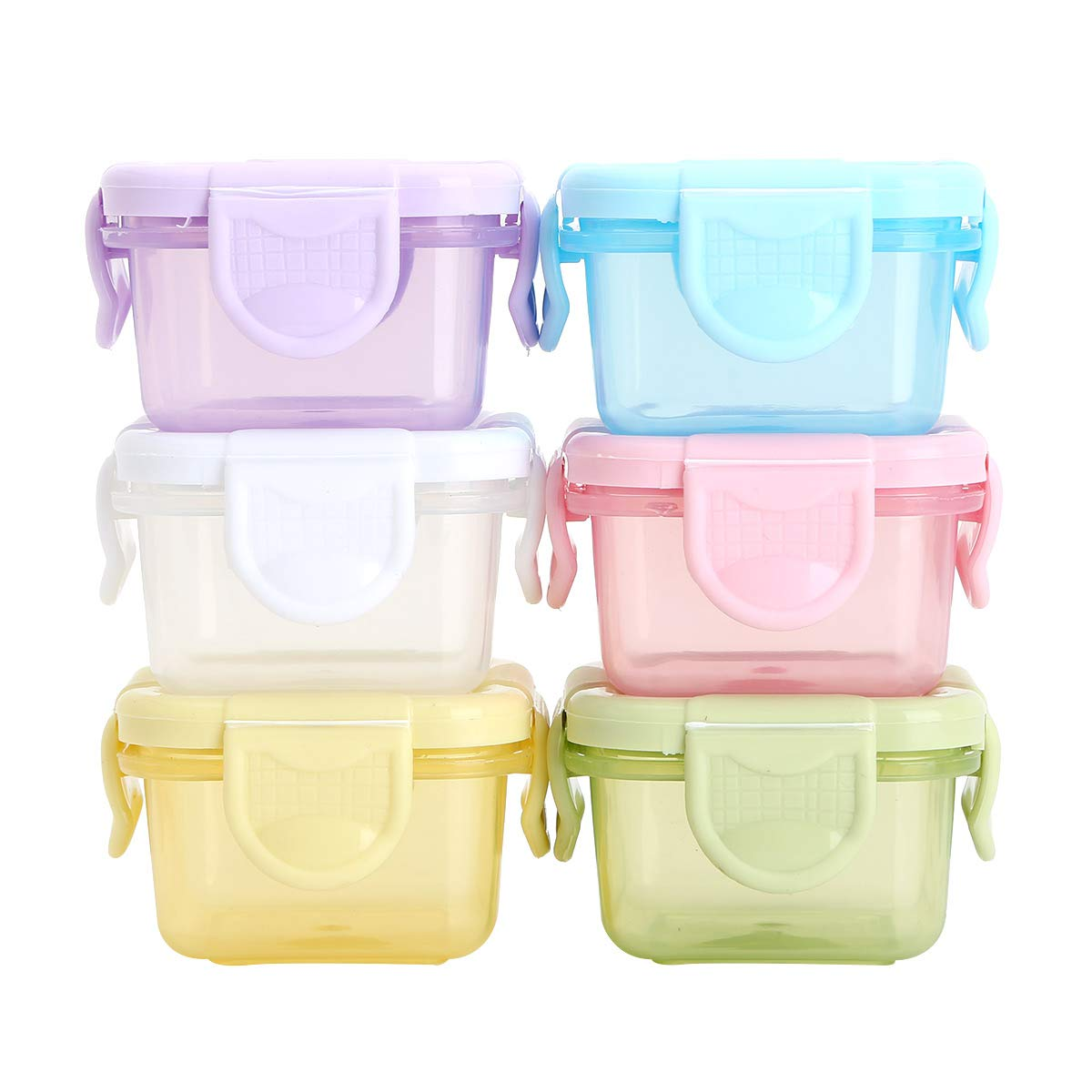 iiniim Baby Food Containers, 6PCS BPA-Free Baby Food Freezer Storage Containers Multicolor One Size