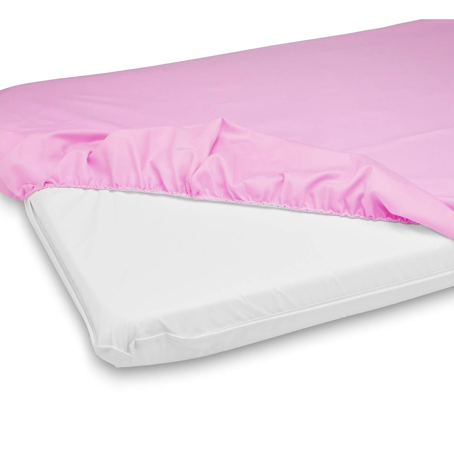 Cradle Mattress and Sheet Combo- Color: Lavender, Size: 18x36