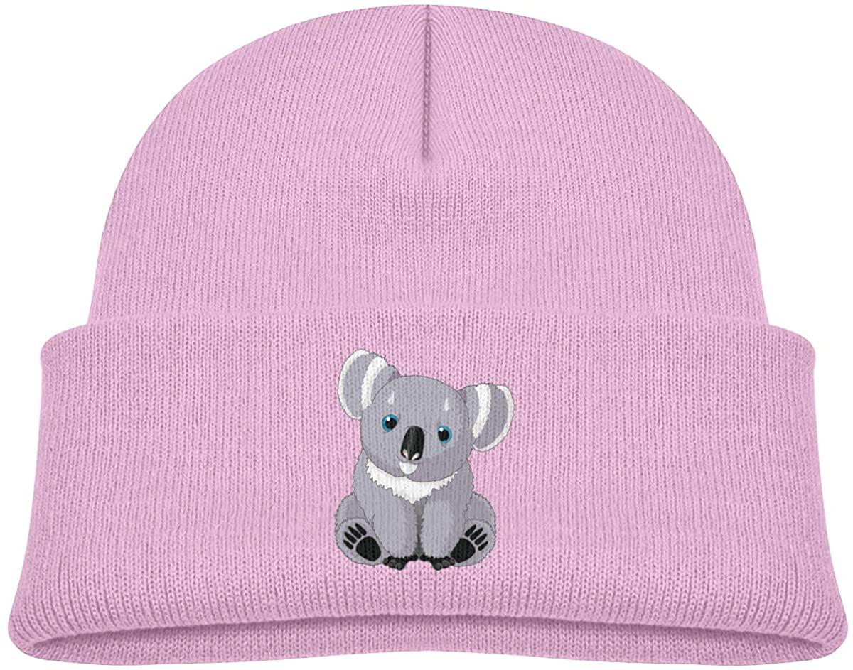 Toddlers Beanie Koala Cuffed Knit Hat Skull Cap
