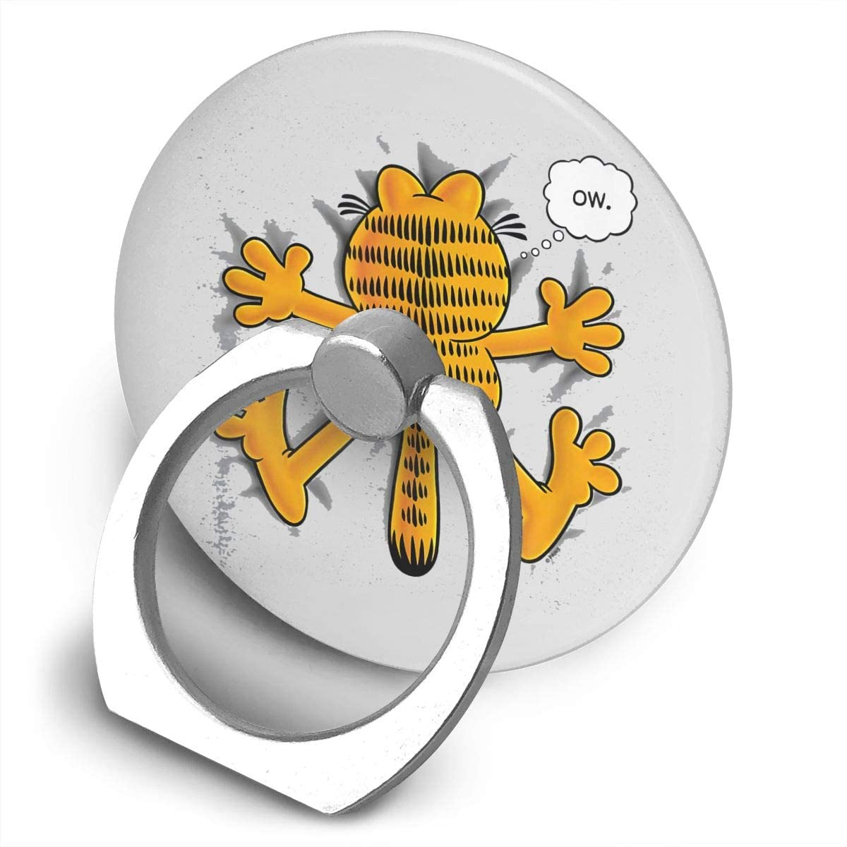 Nmfdz Garfield Ow Alloy Mobile Phone Ring Bracket,360 Degree Rotating Ring Stand Grip Mounts