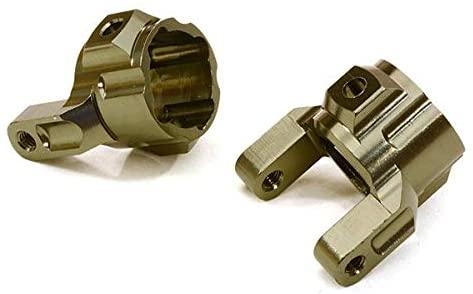 Integy RC Model Hop-ups OBM-22100GUN CNC Machined Alloy Caster Blocks for Axial 1/10 SCX-10 Honcho & Dingo