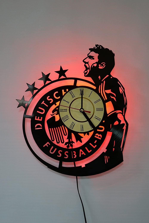 Football Design Wall Light, Night Light Function, Original Home Interior Decor, Wall Lamp, Perfect Gift (Red)