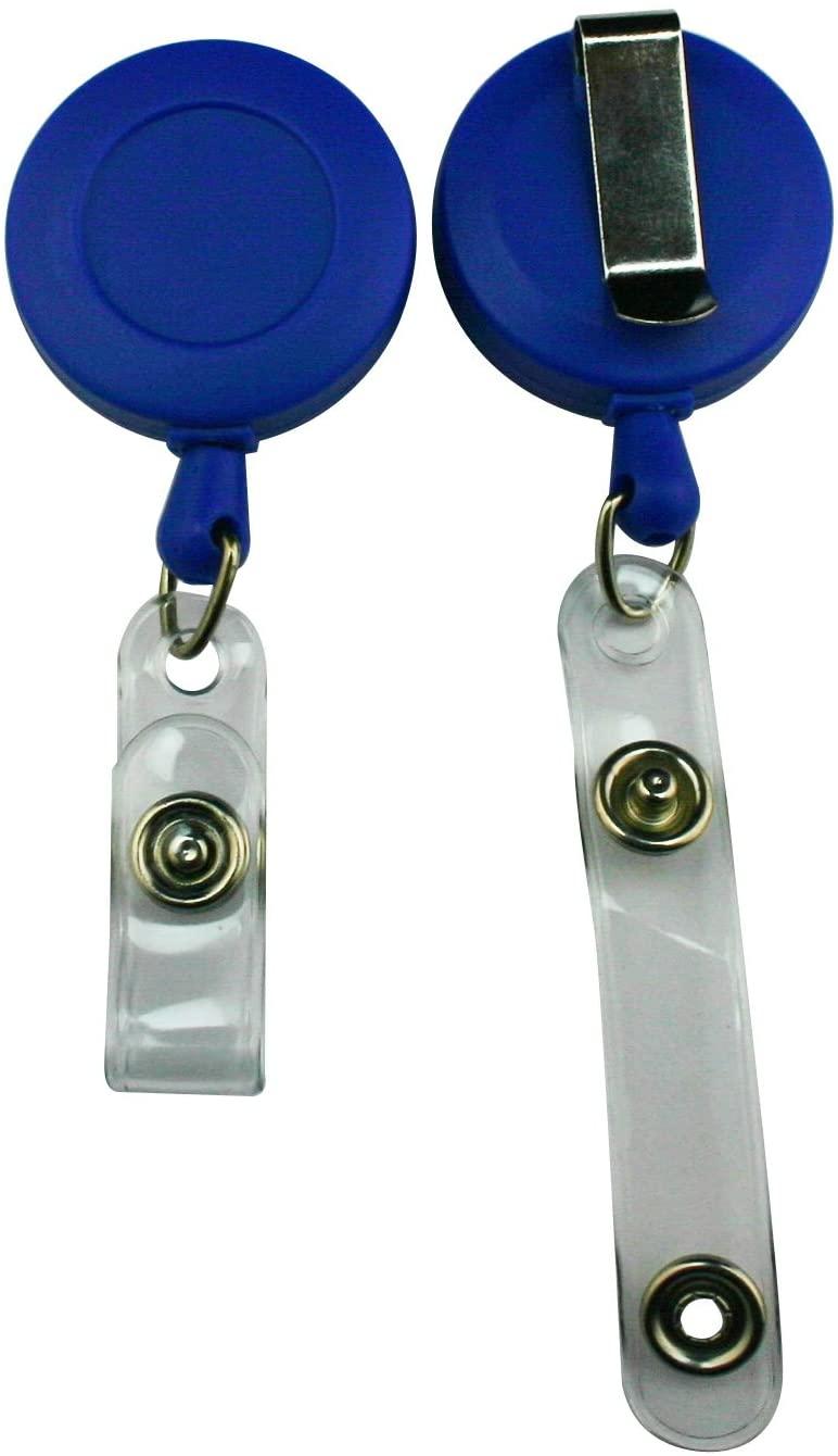 Fenggtonqii Deep Blue Carabiner Style Retractable ID Card Reel Strap Clip Pack of 4