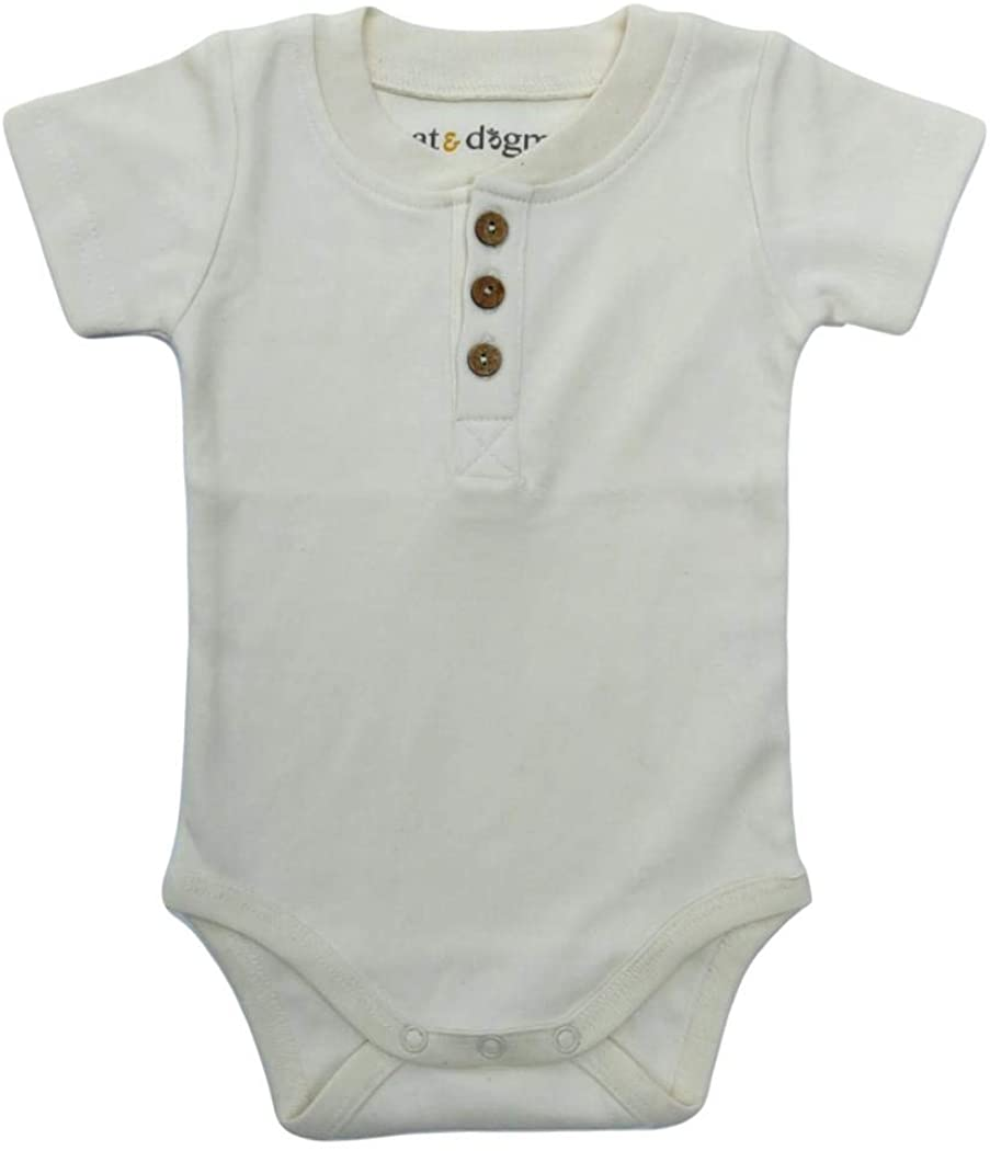 Cat & Dogma Organic Unisex Short Sleeve Bodysuit
