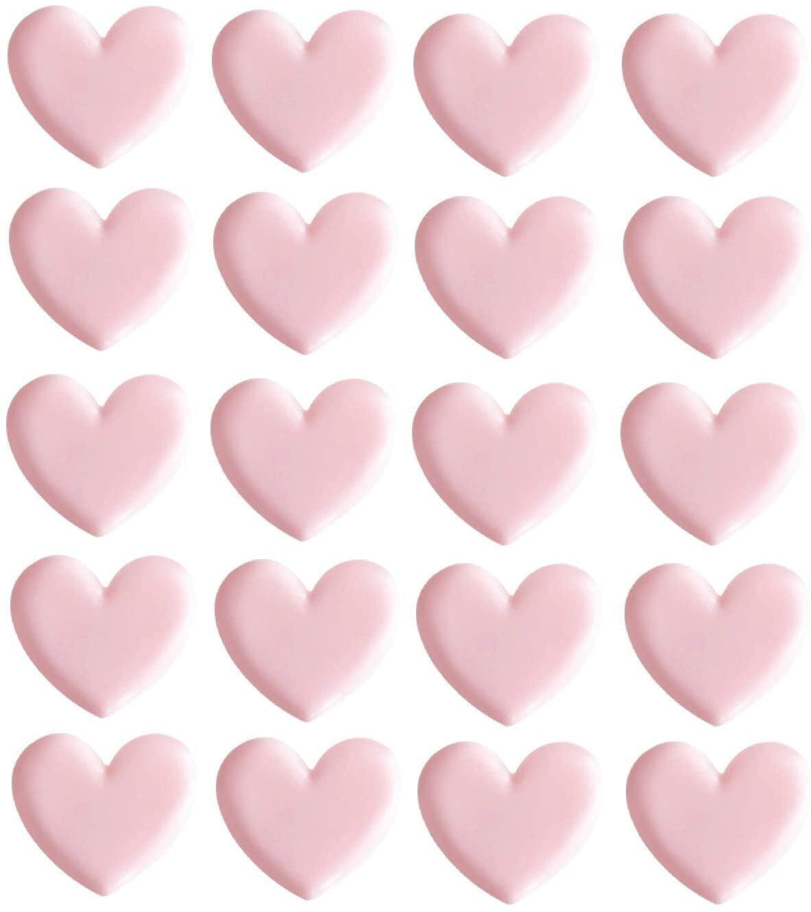 Chris.W Cute Heart Shaped Binder Clips, Mini Decorative Paper Clips, 1.4 x 0.82 inches, Pack of 20(Pink)