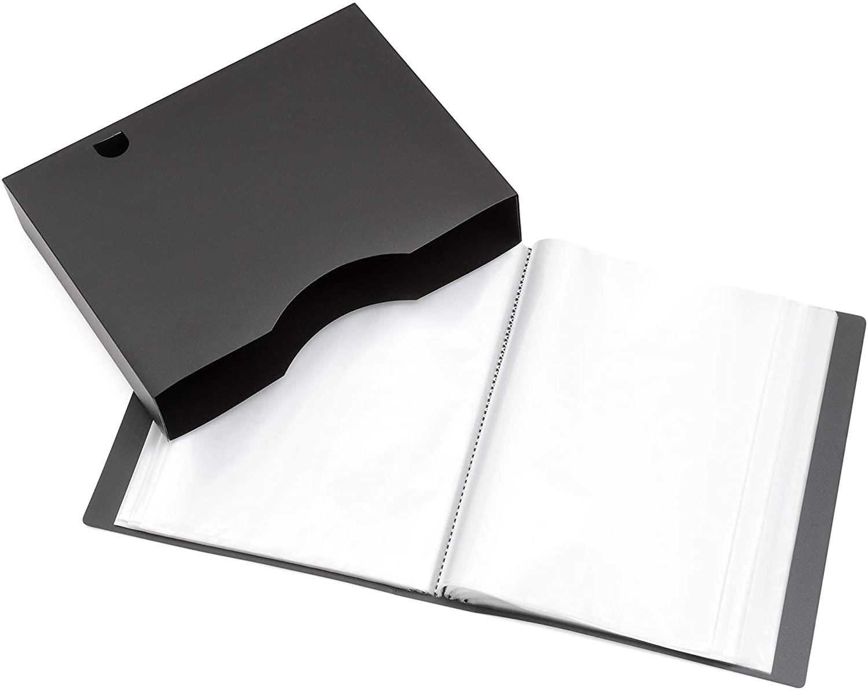A4 Presentation Display Book – File Folder with 150 Pockets 300/Sides – Storage Case Portfolio Folder with Plastic Sleeves - Poly Pocket Folder - by Arpan (Black)