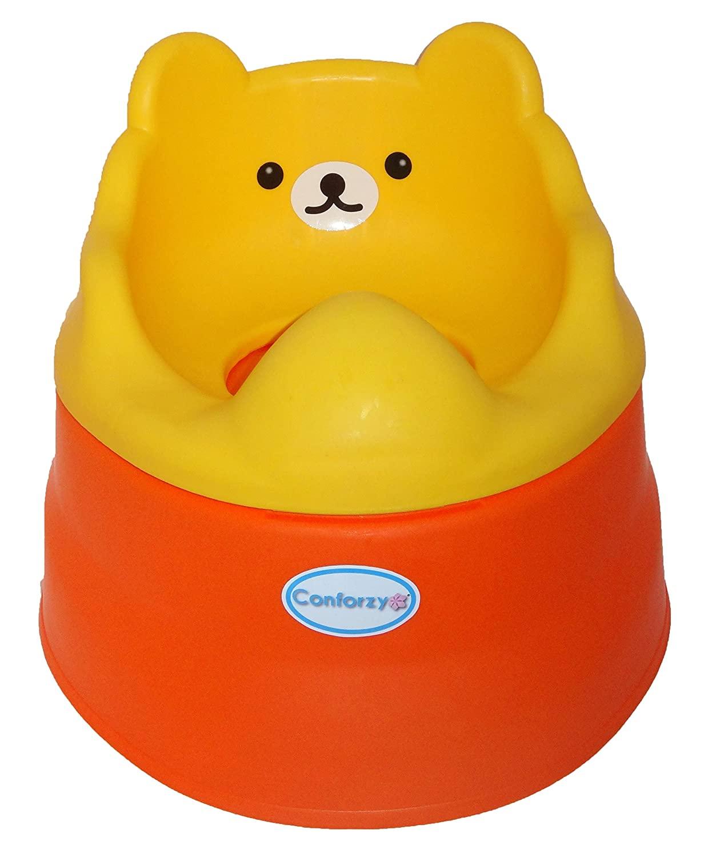 2 in 1 Teddy Potty Training Toilet Seat (Yellow & Orange)