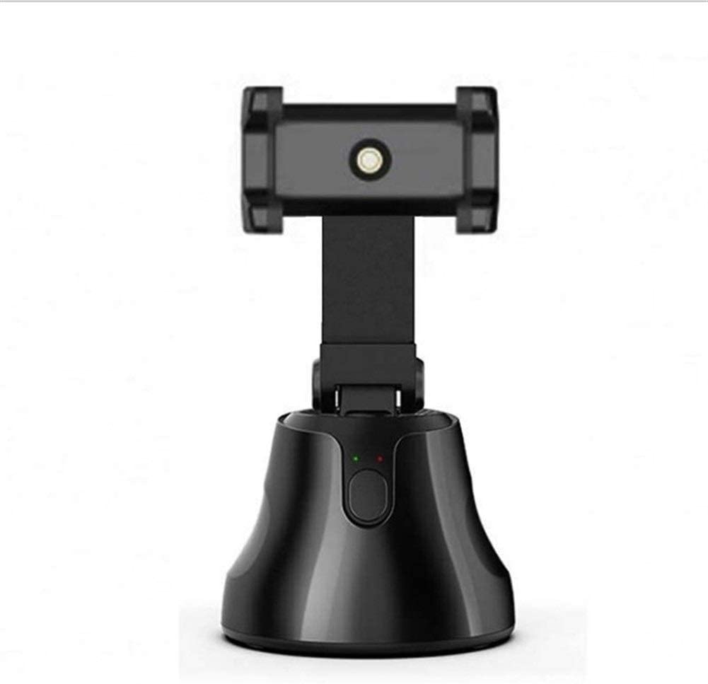 Rpaio Portable Smart Auto Selfie Stick Tracking Camera Mount, 360°Rotation Auto Face Tracking Object Tracking Animal Tracking Smart Selfie Stick Phone Mount Holder for Android and iOS