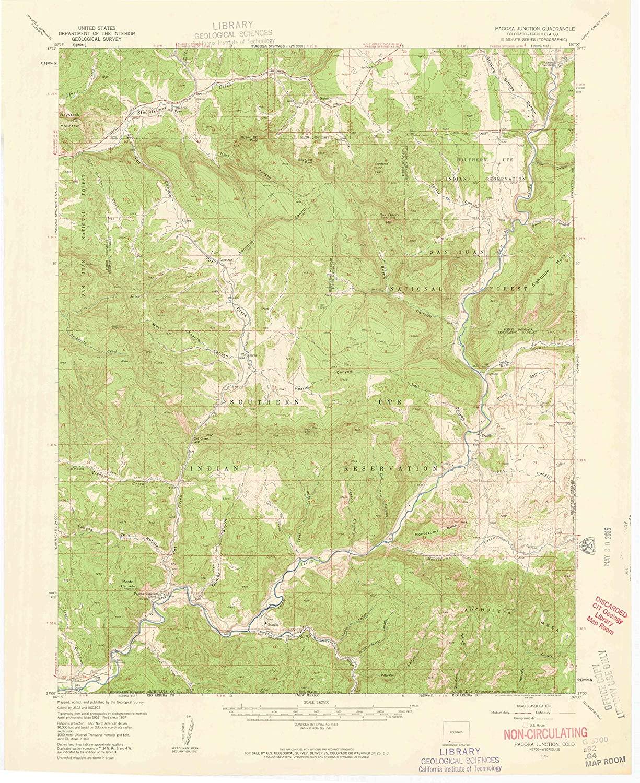 Map Print - Pagosa Junction, Colorado (1957), 1:62500 Scale - 24