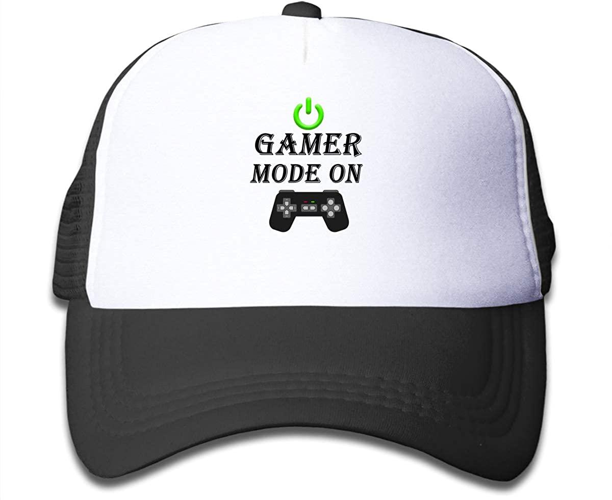 Gamer Mode On Children's Adjustable Mesh Hats Baseball Trucker Cap for Boys and Girls
