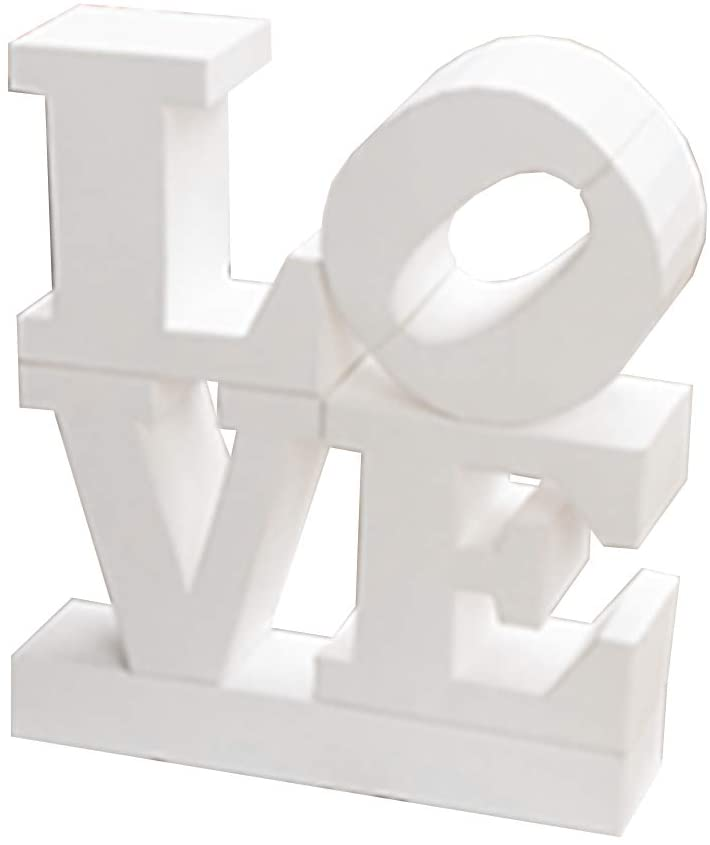tomten 3D Low Poly Initial Love Puzzle PaperCraft Kit for Adult & Teens - Pre-Cut