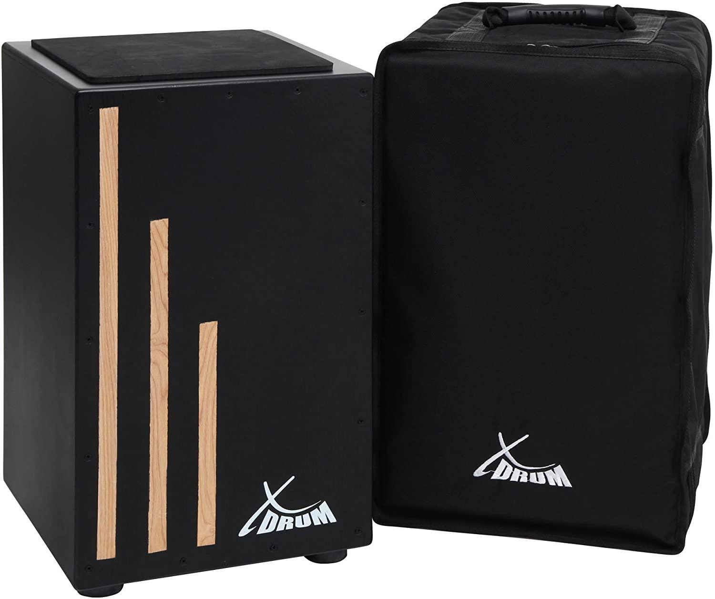 XDrum Primero Cajon Negra including Bag (Snare Sound, Box Drum, Drum Box, Wood)