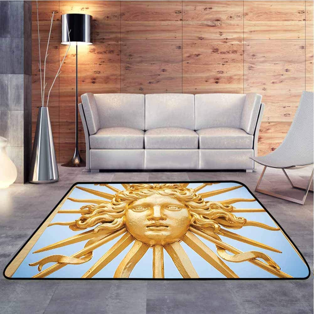 Camping Mat De Versailles Golden Gate Sky Monuments French Style Digital Printed for House Baby Crawling Mat Custom Sizing Available to Choose, 4 x 6 Feet